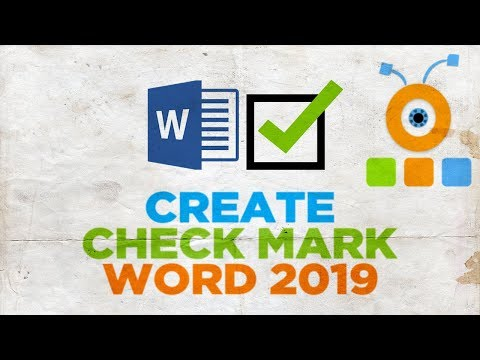 How to Create a Tick in Word 2019   How to Create a Check Mark in Word 2019