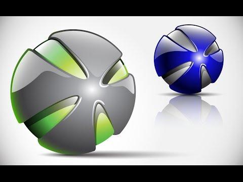 How to create 3D Logo Design in Adobe Illustrator CS5 | HD | X1