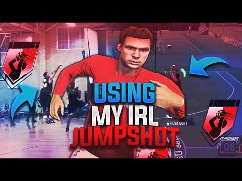 USING MY REAL LIFE JUMPSHOT AT THE PARK - 100% GREENLIGHT - NBA 2K18