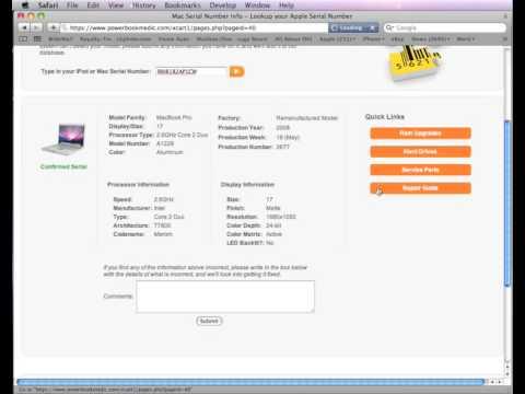 Mac Serial Number Lookup Tool Demo