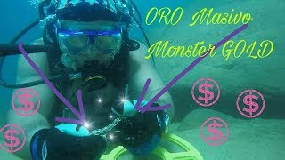 ORO MASIVO ! Detection Metalica ! MONSTER GOLD ! Scuba Diving Hunt In Paradise Metal Detecting