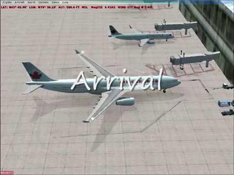 Flight Simulator X London to Toronto by Air Canada