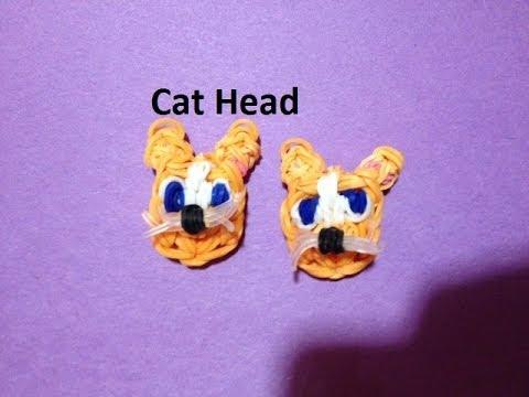 How to Make a Cat Head Charm on the Rainbow Loom - Original Design