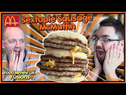 McDonald's Sextuple Sausage McMuffin | Food Review UK Fusions