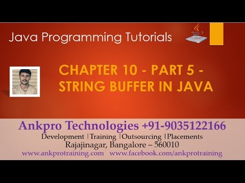 Java for beginners - Chapter 10 : String buffer (append, insert, replace, delete & reverse) Part - 5