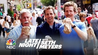 Seth and Josh Meyers Go Day-Drinking in Brooklyn - Late Night with Seth Meyers