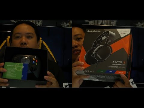 Unboxing The Duke Hyperkin Xbox Controller and the Steel Series Arctis 3 Console Edition Gaming Head