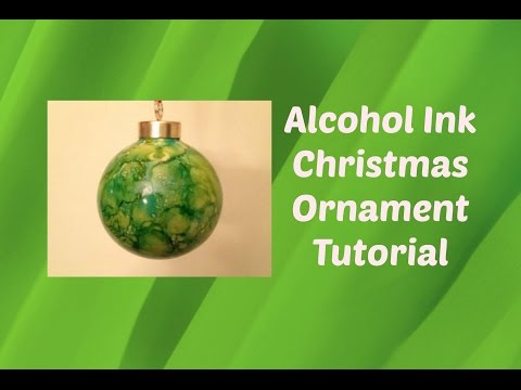Make Your Own ALCOHOL INK CHRISTMAS ORNAMENT Tutorial DIY | Alcohol Ink Stamped Decorations
