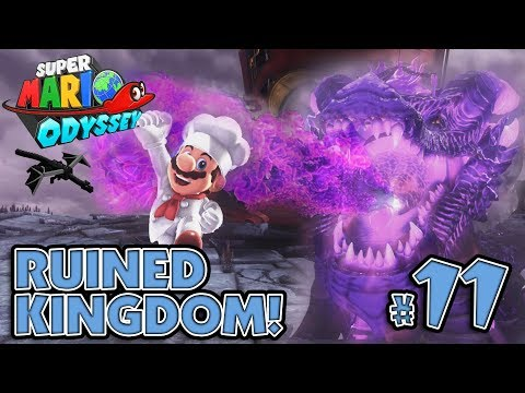 BOWSER'S PET DRAGON BOSS BATTLE in the RUINED KINGDOM!!! Super Mario Odyssey #11