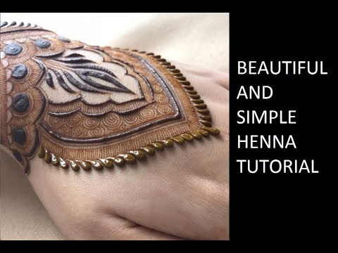 Best Henna Tattoo Design Tutorial For Bride | Latest Simple and easy Mehendi  | حناء
