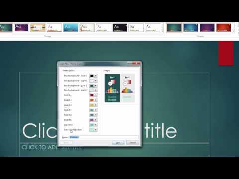 Custom Hyperlink Color - PowerPoint 2013