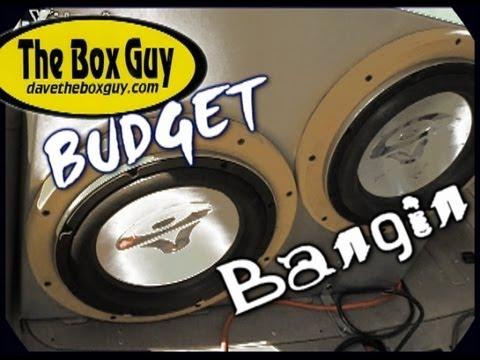 Getting Louder w/ LESS Power - DaveTheBoxGuy's Custom Ported Subwoofer Box & 2 Cerwin Vega VMAX Subs