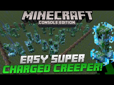 Minecraft Xbox & Playstation: How to Easily Get a Super Charged Creeper!