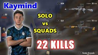 Team Liquid Kaymind - 22 KILLS - AKM+SLR - SOLO vs SQUADS - PUBG