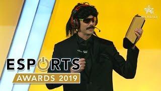 Streamer of the Year 2019 Winner: DrDisrespect Full Speech at EsportsAwards