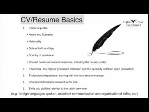 Cabin Crew Job Interview Tips (CV/Resume Basics & Your Photos)