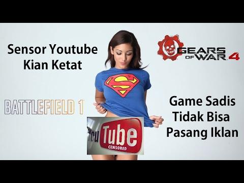 Sensor Youtube Kian Ketat, Game Sadis/Perang Tidak Bisa Dipasang Iklan?