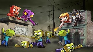 Minecraft | ZOMBIE BASE CHALLENGE - Zombie Horde Attacks! (Who will Survive?)