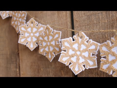 Burlap Garland with Snowflakes