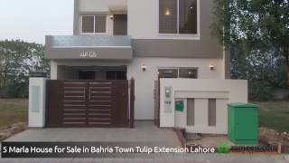 5 MARLA HOUSE FOR SALE IN BAHRIA TOWN - SECTOR C TULIP EXTENSION LAHORE
