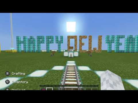 Happy New Year 2018 Minecraft (Rail Map)