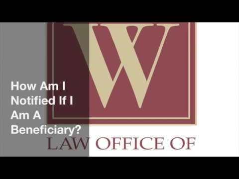 How Am I Notified If I Am A Beneficiary?