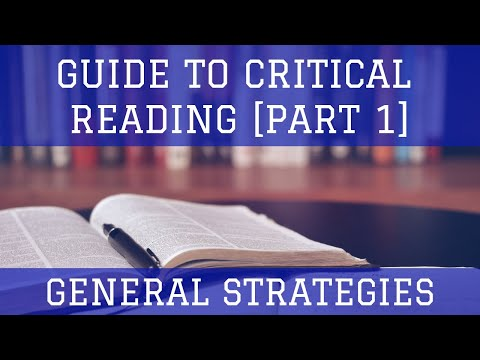SAT Strategies - Guide to Critical Reading