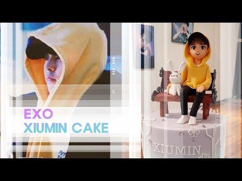 exo xiumin cake 엑소 시우민  케이크 만들기