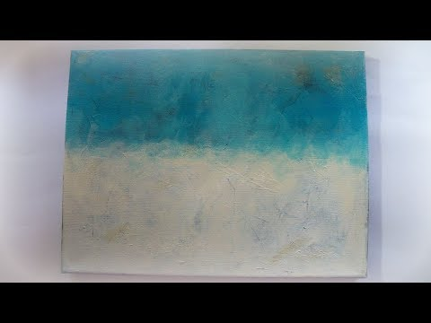 #Paintingisfun / How to make a easy abstract painting:  teal waters
