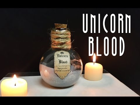 Unicorn Blood : DIY Potion Bottle : Halloween Prop ( Harry Potter Inspired )