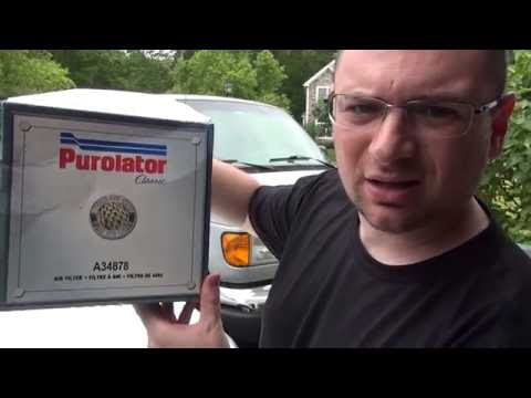 FORD VAN ENGINE AIR FILTER REPLACEMENT - EASY!