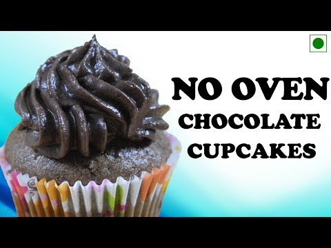 How To Make Chocolate Cupcake In Pressure Cooker/ Pan - Without Oven Cake Recipe  Yummylicious