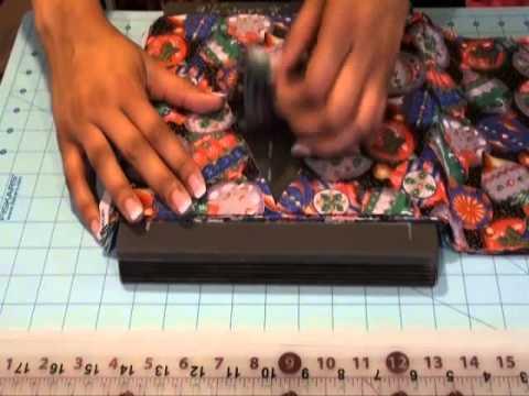 Using the AccuQuilt Studio Die Large Isosceles 50700 - Part 2 - Cutting