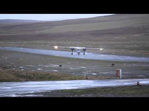This is what I call '' Crosswind Landing'',Islander at Tingwall Airport, Shetland. Watch HD