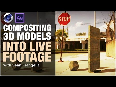 Compositing 3D Models into Footage with Cinema 4D & After Effects - 3D Tutorial,  Sean Frangella