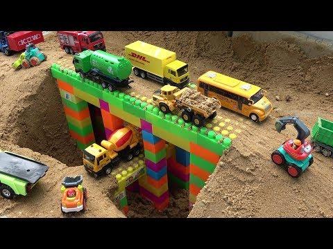 Xxx Mp4 Bridge Construction Trucks For Kids Excavator Bulldozer Dump Truck Toy Video For Children 3gp Sex