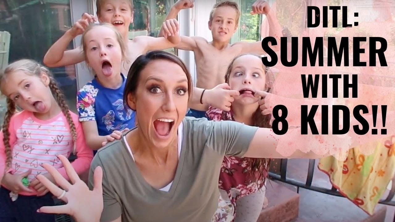 Summer with 8 Kids! Day In The Life with Jordan Page and Family