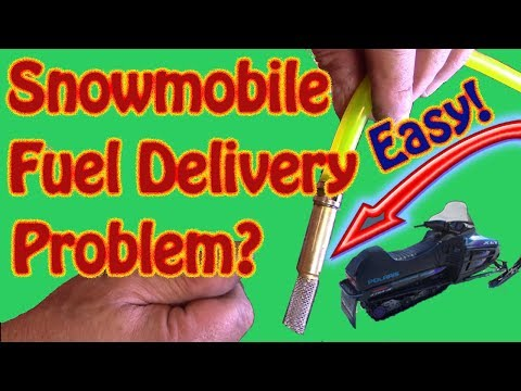 How to Replace a Snowmobile Fuel Tank Pickup Line and Filter Snowmobile Not Getting Fuel From Tank