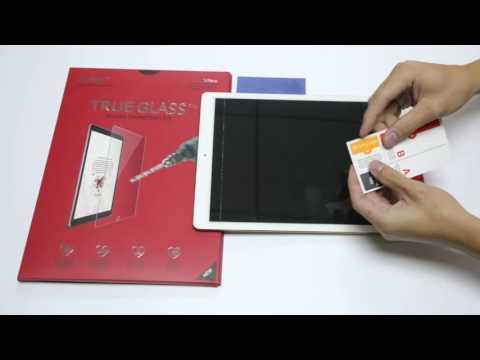 iCarez Apple iPad Pro Tempered Glass installation