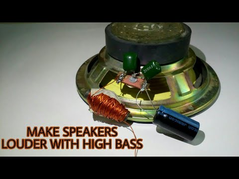 Make speakers louder with High Base | chock coil