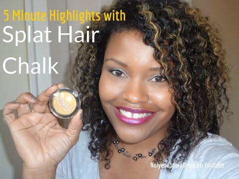 Easy Blonde Hair Highlights | Splat Hair Chalk Sun