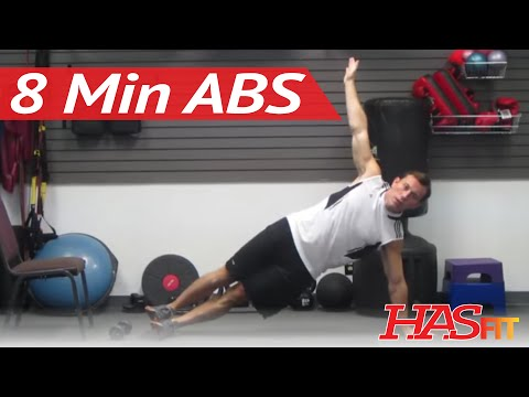 HASfit's Eight Minute Abs Workout To Get Ripped Abs Fast - 8 Min Abs - 8 Minute To Get Abs