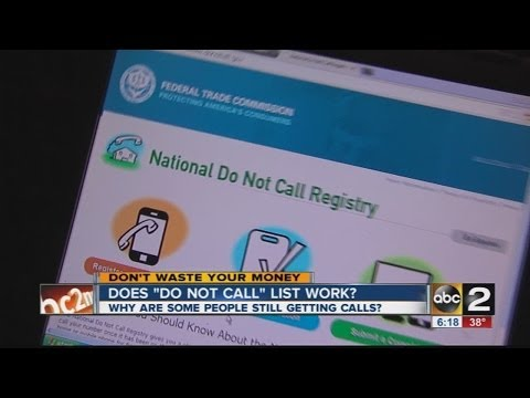Why does the Do not call registry not work?