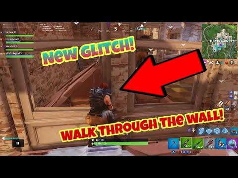 Fortnite Battle Royale Glitch (New) walk through the wall PS4/Xbox one 2018