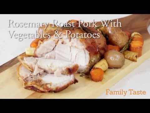 Rosemary Roast Pork With Vegetables & Potatoes