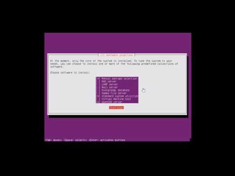 ubuntu 16.4 server installtion