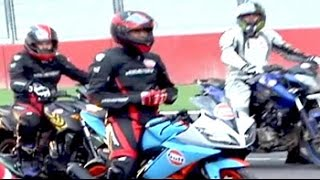 Indian cricket captain MS Dhoni participates in Bike Festival of India