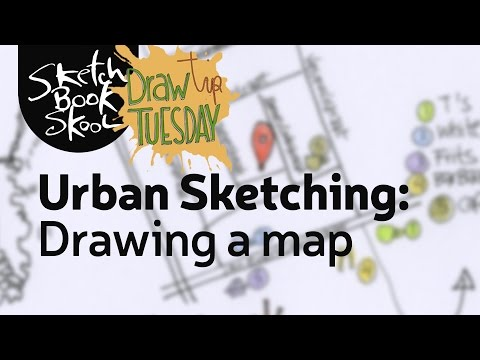 Draw Tip Tuesday: Adding a map to your urban sketch