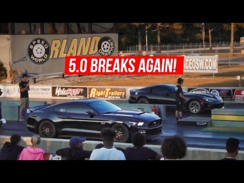 5.0 Breaks Again - Street Car Takeover 2017 - 2015 Mustang GT Breaks a Half Shaft