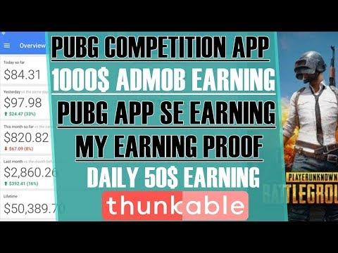 5000$ Pubg mobile app Online earning ft  admob - PakVim net HD